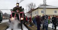 historický vlak připomíná návrat prvního československého prezidenta T.G.Masaryka a rekonstruuje jeho návrat do vlasti