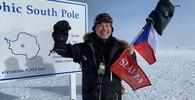Pavel Sehnal na jižním pólu (leden 2019)