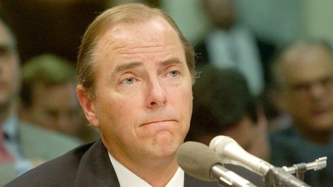 Jeffrey Skilling, bývalý šéf kdysi vlivné energetické společnosti Enron Corporation.