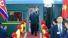 Kim Čong-un dorazil po třech dnech vlakem do Vietnamu (26.2.2019).