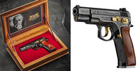 Limitovaná série pistolí CZ 75 Republika, kterou Česká zbrojovka vyrobila ke stému výročí vzniku Československé republiky.
