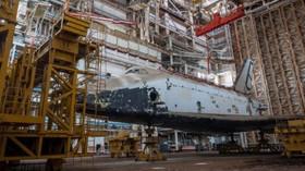 Kosmodrom Bajkonur v Kazachstánu