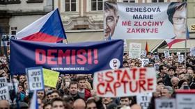 Demonstrace proti Babišovi a nové ministryni Marii Benešové (29.4.2019).