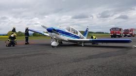 Letadlo bezpečně přistálo. Čtyři osoby, které byly na palubě, nebyly zraněny.