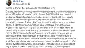 Druhý Hitler, Zemana podřezat jako svini... Lang si pustil pusu na špacír a tady je dohra! - anotační foto