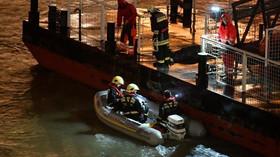 Potopení lodi Hableány na Dunaji v Budapešti (29.5.2019).