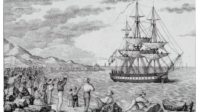 Maria Pita vyplouvá z La Coruñi, 1803