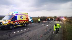 havárie autobusu na Slovensku (13.11.2019)