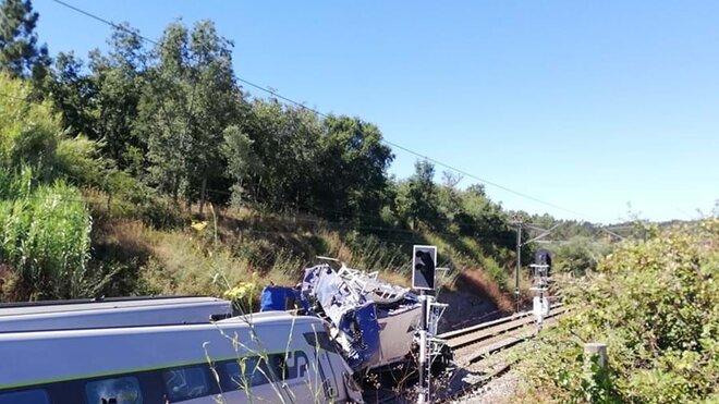 Nehoda vlaku v Portugalsku (31.7.2020)