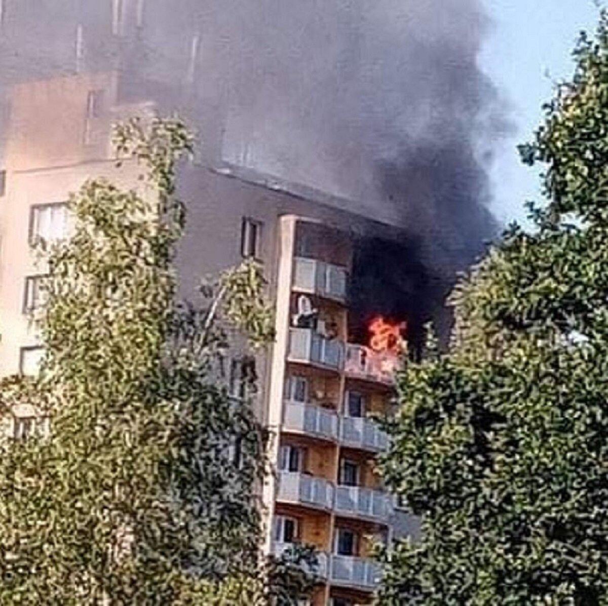 Na sociální síti se objevily fotografie tragického požáru.