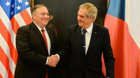 Mike Pompeo se setkal s Milošem Zemanem.