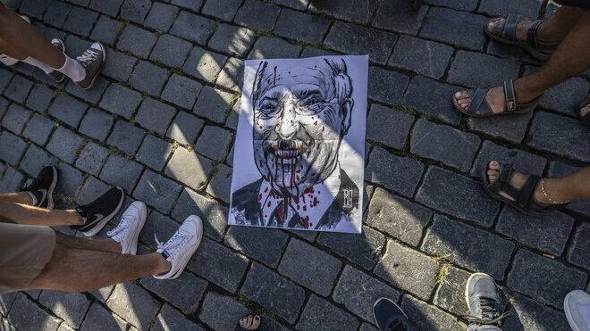 Demonstrace na podporu Bělorusů
