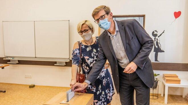 Martin Kupka volí v krajských volbách