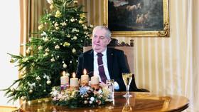 Miloš Zeman přednesl vánoční poselství.