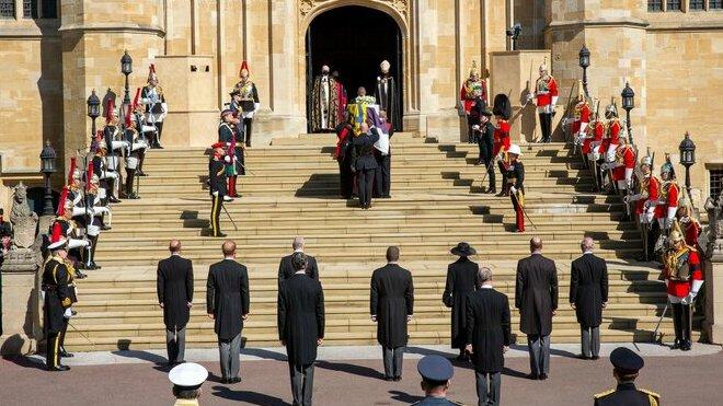 Pohřeb prince Philipa na hradu Windsor. (17.4.2021)