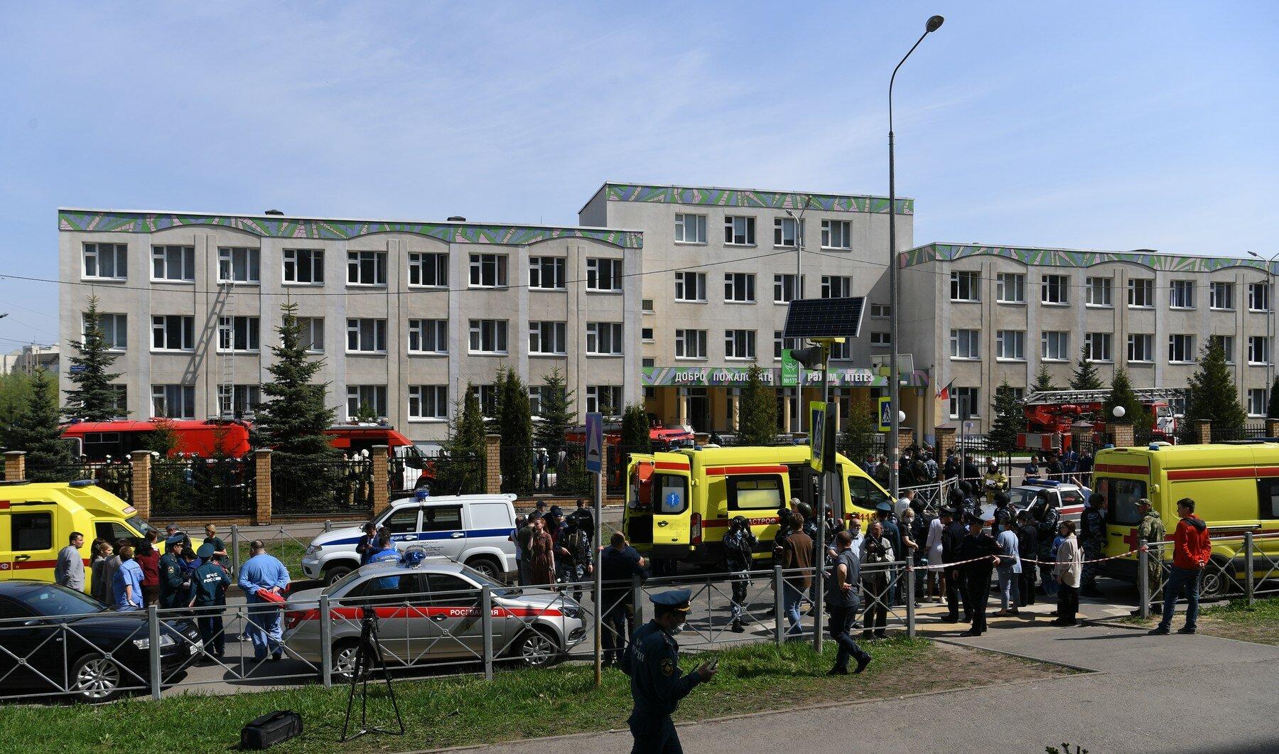 Několik mrtvých po střelbě ve škole v Kazani - anotační foto