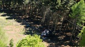 Při pádu kabiny lanovky na severu Itálie zemřelo devět lidí (Foto: Vigili del Fuoco)