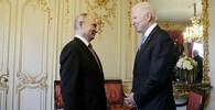 Americký prezident Biden a šéf Kremlu Putin se poprvé sešli - anotační foto