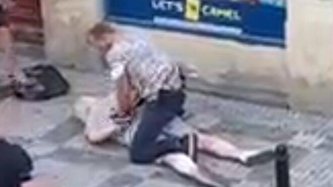 vražda úřednice na úřadu práce v Praze (29. 6. 2021), autor videa: Andrej Melnyk
