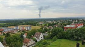 Požár haly v pražské Uhříněvsi. (25.7.2021)