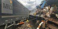Srážka lokomotivy a osobního vlaku v Němčicích nad Hanou na Prostějovsku