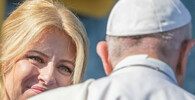 Papež František a Zuzana Čaputová