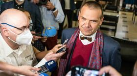 Martin Baxa ve volebním štábu Spolu