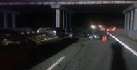Dálnici D10 uzavřela nehoda šesti aut po srážce se zvěří